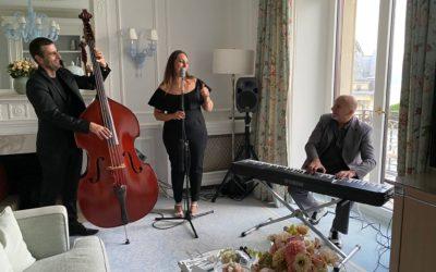 Musiciens chanteuse jazz / Lausanne beau rivage palace (Suisse)